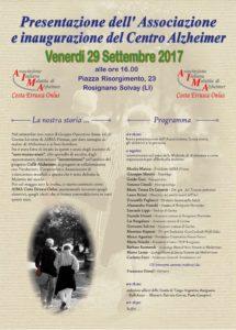 Locadina 29 Settembre 2017 a Rosignano Solvay