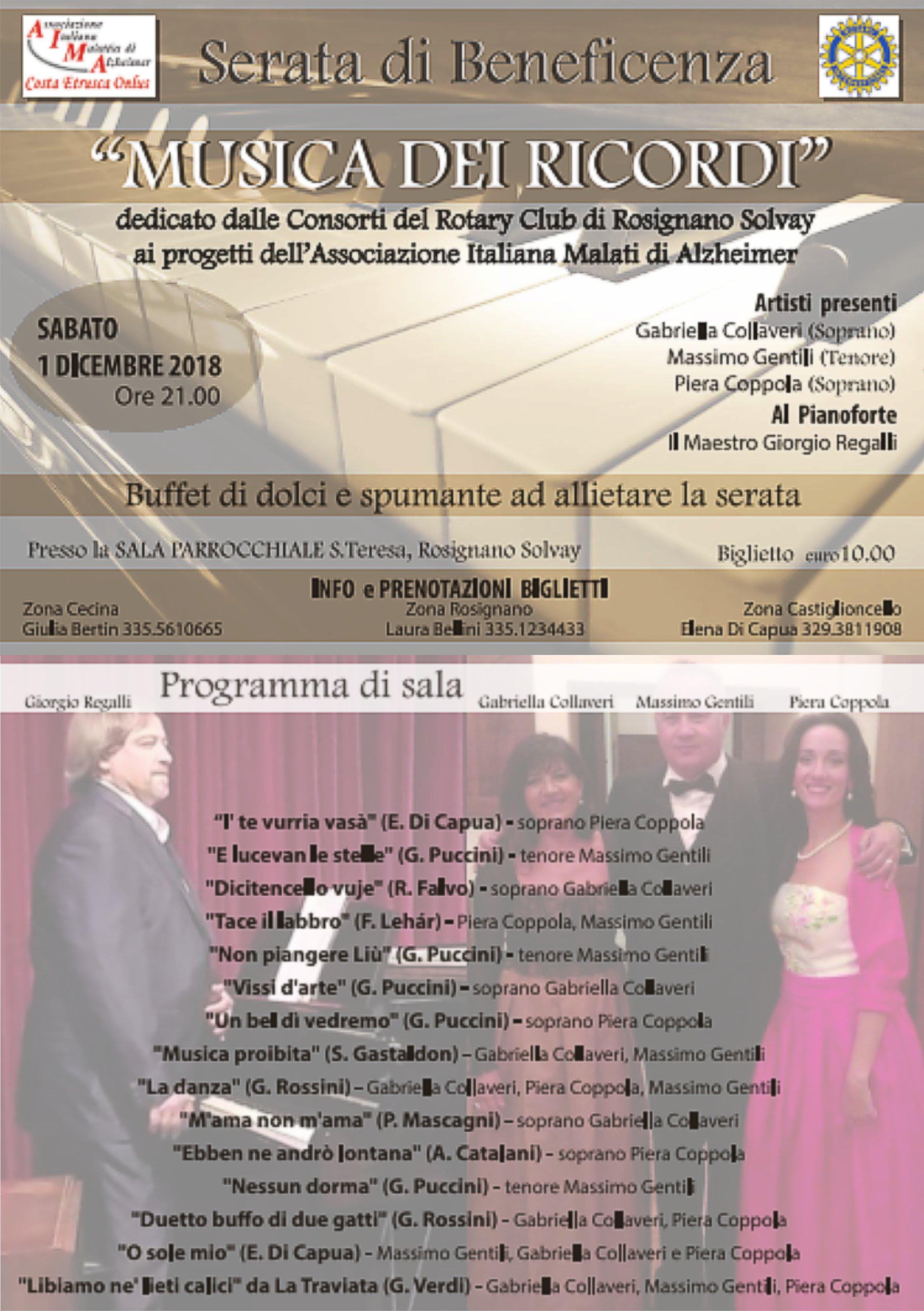 Serata Rotari Club Rosignano a Santa Teresa a Rosignano Solvay